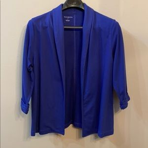 Royal blue cardigan blazer